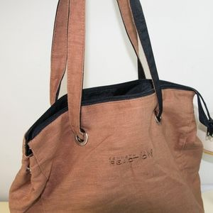 Kenneth Cole Reaction Chocolate & Black Lg Tote